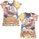 Atari Shirt Missile Command Poly/Cotton Sublimation Juniors T-Shirt Front/Back Print