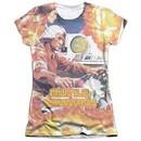 Atari Shirt Missile Command Poly/Cotton Sublimation Juniors T-Shirt