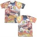 Atari Shirt Missile Command Poly/Cotton Sublimation T-Shirt Front/Back Print