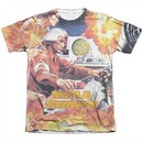 Atari Shirt Missile Command Poly/Cotton Sublimation T-Shirt
