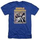 Atari Shirt Missile Commander Heather Royal Blue T-Shirt