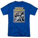 Atari Shirt Missile Commander Royal Blue T-Shirt