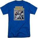 Atari Shirt Missile Commander Royal Blue Tall T-Shirt