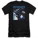 Atari Slim Fit Shirt 2600 Asteroids Black T-Shirt