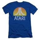 Atari Slim Fit Shirt Logo Royal T-Shirt