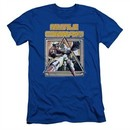 Atari Slim Fit Shirt Missile Commander Royal Blue T-Shirt