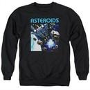 Atari Sweatshirt 2600 Asteroids Adult Black Sweat Shirt