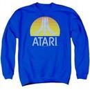 Atari Sweatshirt Logo Adult Royal Sweat Shirt
