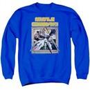 Atari Sweatshirt Missile Commander Adult Royal Blue Sweat Shirt