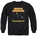 Atari Sweatshirt Missile Screen Adult Black Sweat Shirt