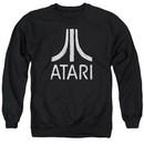 Atari Sweatshirt Rough Logo Adult Black Sweat Shirt