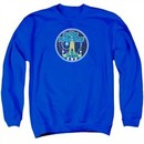 Atari Sweatshirt Star Raiders Badge Adult Royal Blue Sweat Shirt