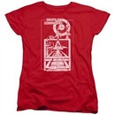 Atari Womens Shirt Lift Off Red T-Shirt