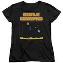 Atari Womens Shirt Missile Screen Black T-Shirt