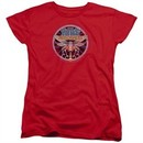 Atari Womens Shirt Yars Revenge Patch Red T-Shirt