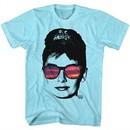 Audrey Hepburn Shirt Reflection Sunglasses Sunset Blue Heather T-Shirt