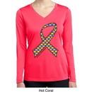 Autism Awareness Ribbon Ladies Dry Wicking Long Sleeve Shirt