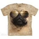 Aviator Pug Shirt Tie Dye Adult T-Shirt Tee