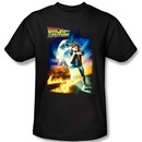 Back To The Future Kids T-shirt Movie Poster Black Shirt Youth