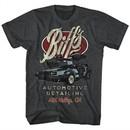 Back To The Future Shirt Biff's Automotive Detailing Charcoal T-Shirt