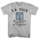 Back To The Future Shirt Dr Browns Institute of Tech Athletic Heather T-Shirt