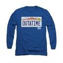 Back To The Future Shirt Outatime Long Sleeve Royal Blue Tee T-Shirt