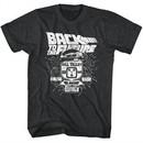 Back To The Future Shirt Vintage Delorean Black T-Shirt