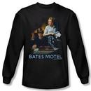 Bates Motel Shirt Die Alone Long Sleeve Black Tee T-Shirt