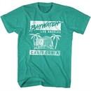 Baywatch Shirt Baywatch California Teal Green T-Shirt