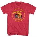 Baywatch Shirt Lifeguard Sunset Red Heather T-Shirt