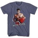 Baywatch Shirt Mitch Please 2 Heather Blue T-Shirt