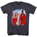 Baywatch Shirt Pam/Dave Black Heather T-Shirt