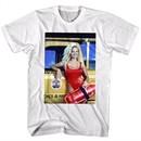 Baywatch Shirt Pam Next To Truck White T-Shirt