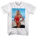 Baywatch Shirt Pam On The Beach White T-Shirt