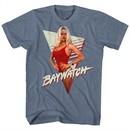 Baywatch Shirt Pamela Anderson Heather Blue T-Shirt