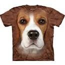 Beagle Shirt Tie Dye Dog Face T-shirt Adult Tee