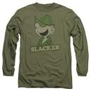 Beetle Bailey Long Sleeve Shirt Slacker Military Green Tee T-Shirt