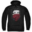 Betty Boop Hoodie Bandana & Roses Black Sweatshirt Hoody