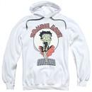 Betty Boop Hoodie Breezy Zombie Love White Sweatshirt Hoody