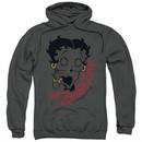 Betty Boop Hoodie Classic Zombie Charcoal Sweatshirt Hoody