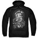 Betty Boop Hoodie Fashion Roses Black Sweatshirt Hoody