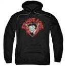 Betty Boop Hoodie Heart You Forever Black Sweatshirt Hoody