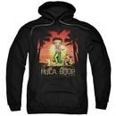Betty Boop Hoodie Hulaboop Black Sweatshirt Hoody