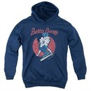 Betty Boop Kids Hoodie Team Boop Navy Blue Youth Hoody