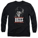 Betty Boop Long Sleeve Shirt Bling Bling Boop Black Tee T-Shirt