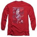 Betty Boop Long Sleeve Shirt Boop Ball Red Tee T-Shirt