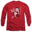 Betty Boop Long Sleeve Shirt Lover Girl Red Tee T-Shirt