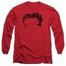 Betty Boop Long Sleeve Shirt Word Hair Red Tee T-Shirt