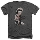 Betty Boop Shirt Out Of Control Heather Charcoal T-Shirt