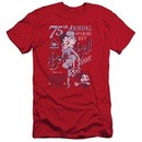 Betty Boop Slim Fit Shirt Boop Ball Red T-Shirt